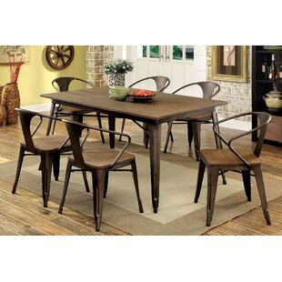 Bourk 7 Piece Solid Wood Dining Set Andrew Home Studio