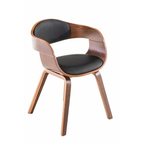 Besucherstuhl Gurrola | Büro > Bürostühle und Sessel  > Besucherstühle | Schwarz | Kunstleder - Massivholz | ModernMoments