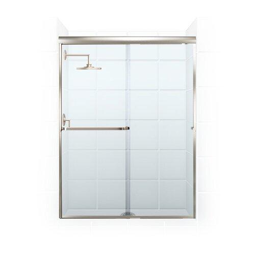 Coastal Industries Paragon Series 34 X 74 Hinged Semi Frameless Shower Door Wayfair
