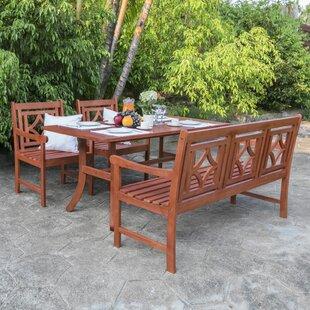 Stephenie 4 Piece Patio Dining Set by Lon..