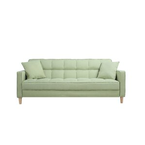 Modern Linen Fabric Tufted Small Space Sofa