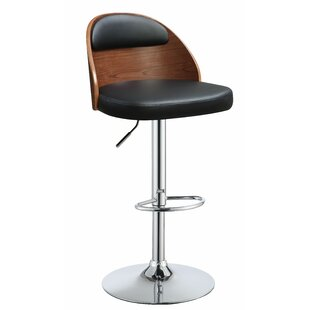 Allentown Adjustable Height Swivel Bar Stool Ivy Bronx