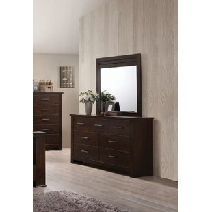 Latitude Run Felder 7 Drawer Double Dresser with Mirror
