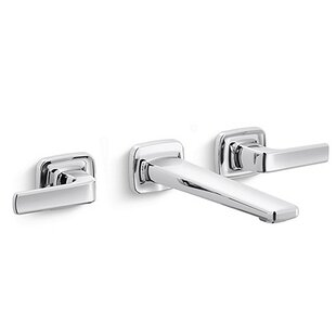 Kallista Per Se Wall Mounted Bathroom Faucet with Drain Assembly