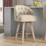 Wallick Bar & Counter Swivel Stool by Ophelia & Co.