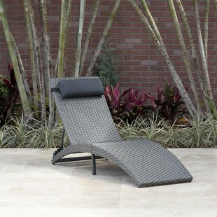 Brayden Studio Sansom Reclining Chaise Lounge with Cushion