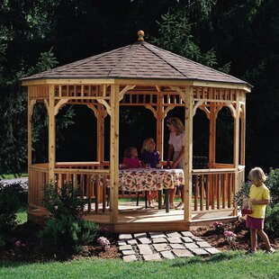 San Marino 10 Ft. W x 10 Ft. D Solid Wood Patio Gazebo by Handy Home