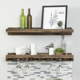 Bernon Solid Wood Wall Mounted Wine Glass Rack