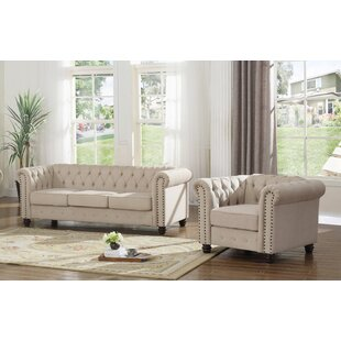 Affordable Audwin 2 Piece Living Room Set by House of Hampton Reviews (2019) & Buyer's Guide