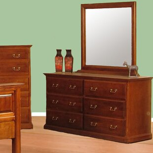 Diandre 6 Drawer Double Dresser with Mirror