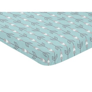 Guide to buy Earth and Sky Arrow Print Fitted Mini Crib Sheet BySweet Jojo Designs