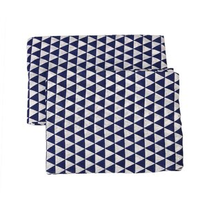 Tribal Triangles Muslin Fitted Crib Sheets (Set of 2)