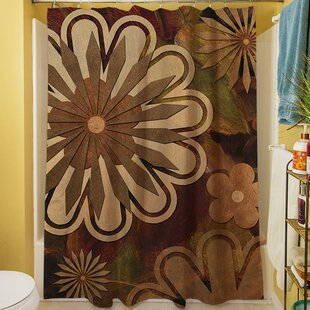 Floral Abstract I Single Shower Curtain
