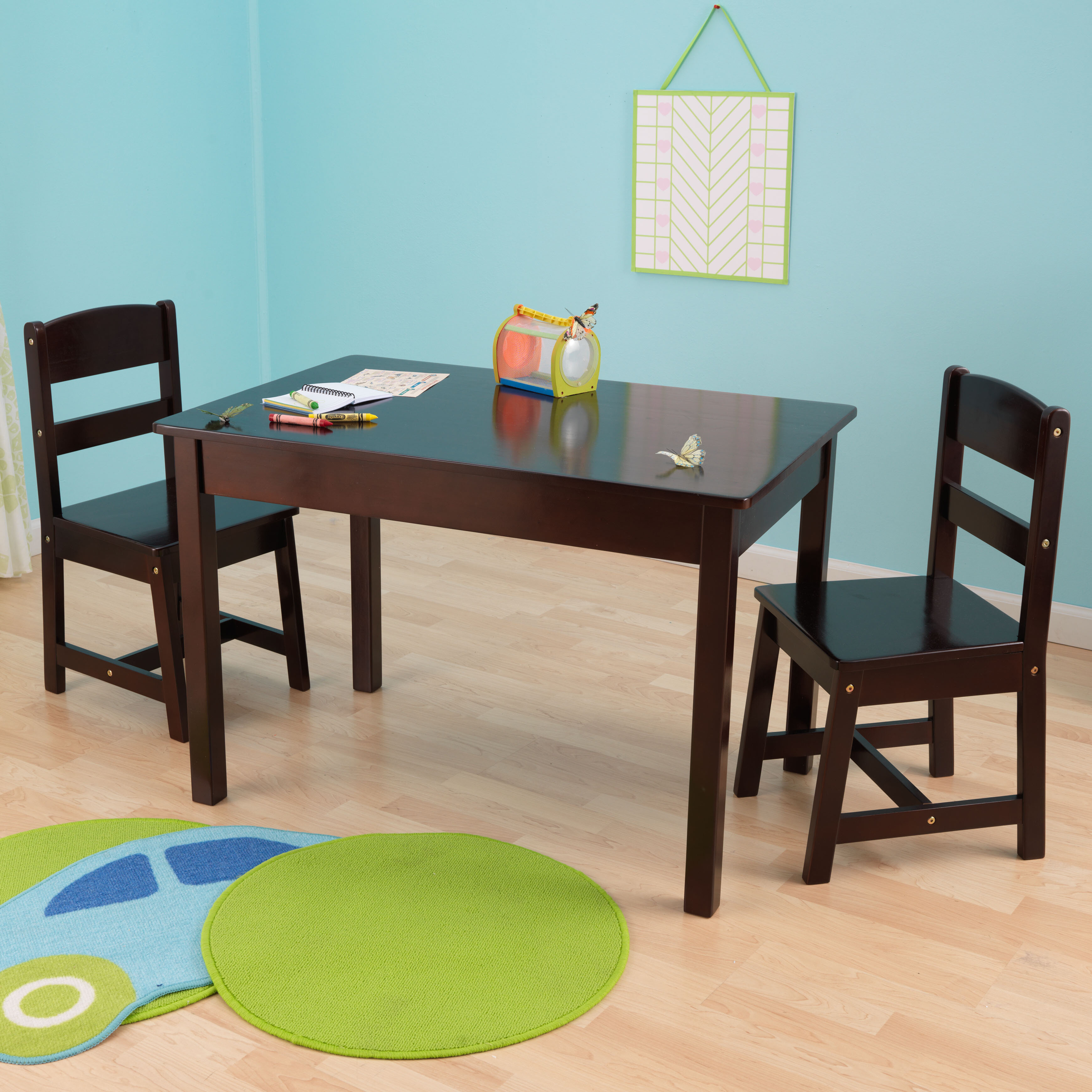 KidKraft Kids 3 Piece Wood Table & Chair Set & Reviews | Wayfair