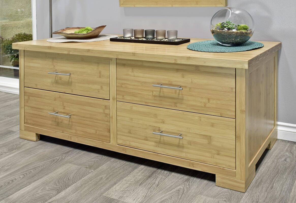 Millwood Pines Acosta 4 Drawer Double Dresser