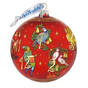 12 days of christmas glass ball ornament