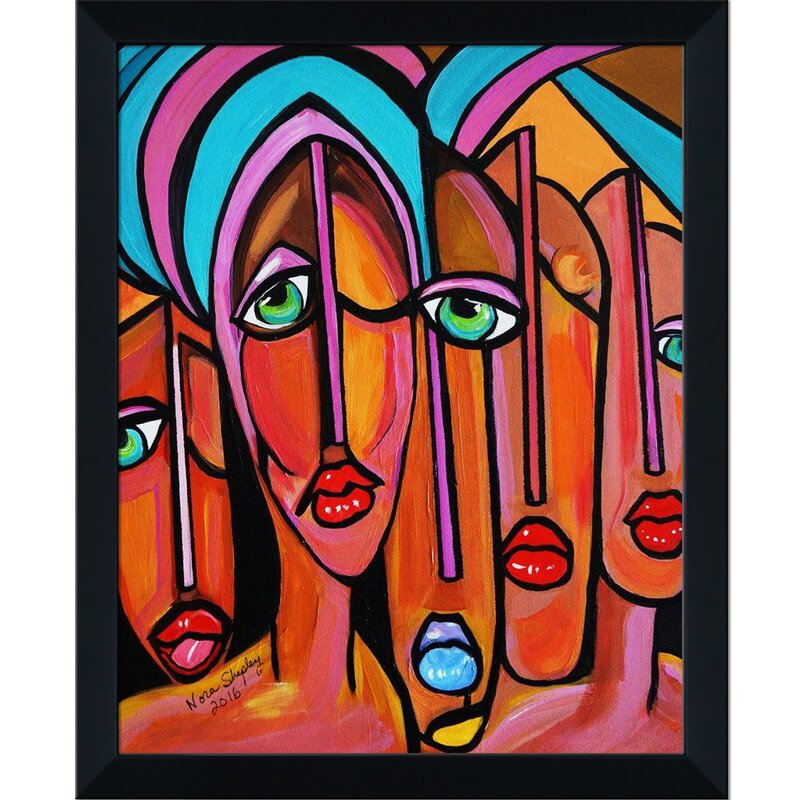 Bloomsbury Market Picasso By Nora Four Eyes By Nora Shepley Picture Frame Painting Print On Canvas Wayfair