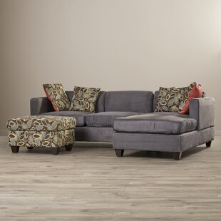 Whittaker Right Hand Facing Reversible Sectional with Ottoman