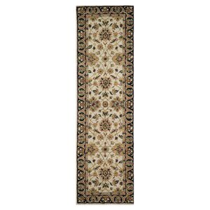 Elegante Hand-Tufted Brown/Ivory Area Rug