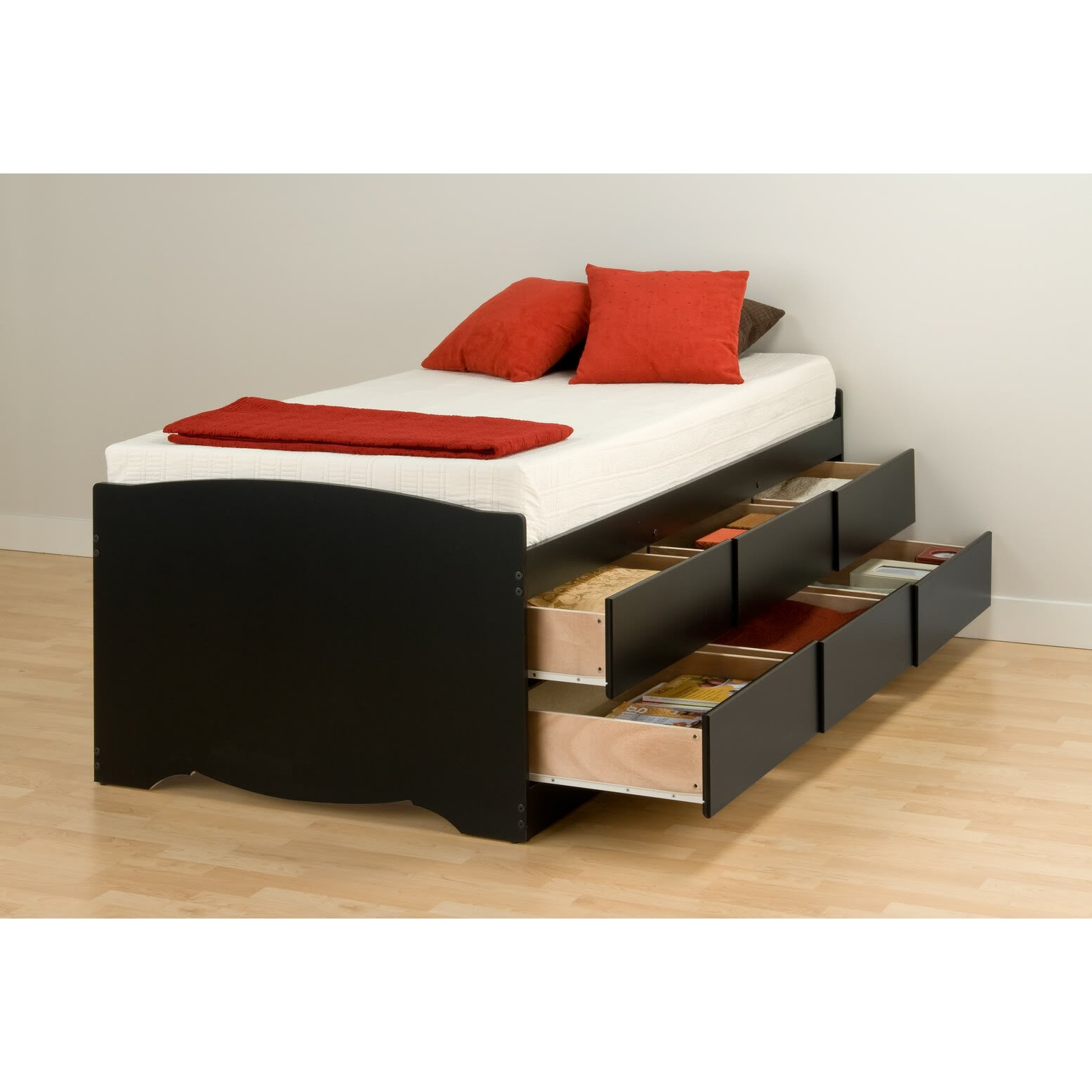 maxine twin captain bed with storage - Twin Captains Bed