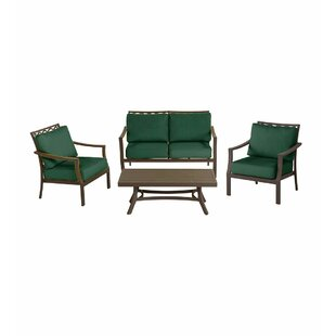 Topsail 4 Piece Sofa Set with Cushions