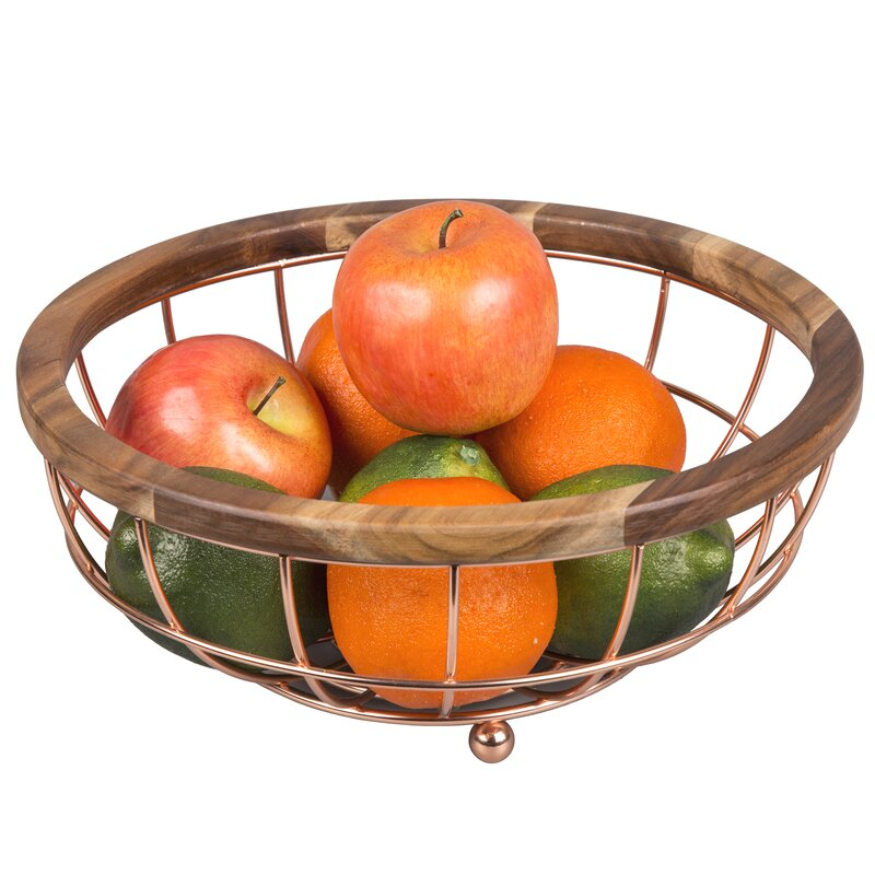 Wall Mount Lilo Deluxe Acacia Wire Fruit Basket Zulily Wrought Studio Lilo Deluxe Acacia Wire Fruit Basket Wayfair