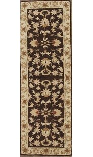 Affordable Price Batten Agra Oriental Hand-Tufted Wool Black/Beige Area Rug ByCanora Grey