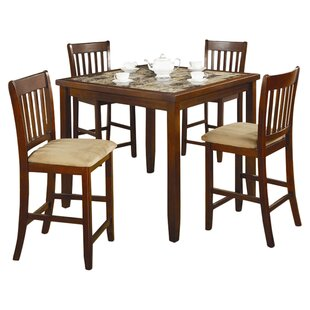 Duplessis 5 Piece Counter Height Dining Set