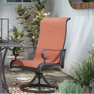 Carder Swivel Patio Dining Chair (Set of 2)