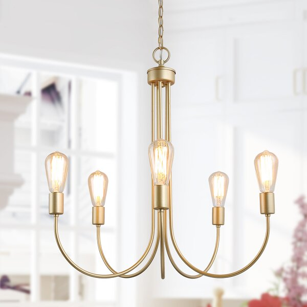 Everly Quinn Lacroix 5 Light Candle Style Classic Traditional Chandelier Wayfair