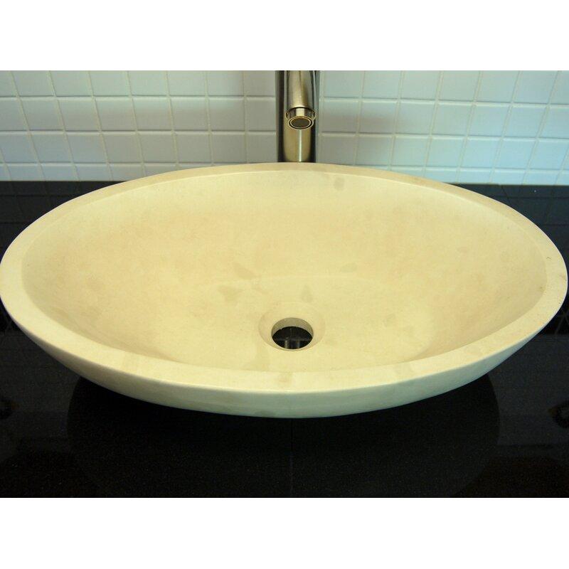 Edenbath Small Limestone Oval Vessel Bathroom Sink Wayfair