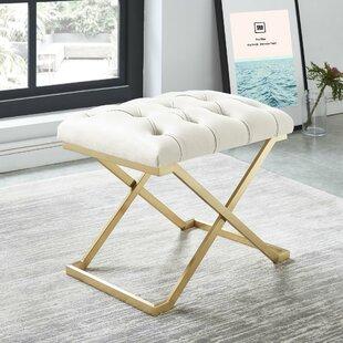 Heeter Metal Upholstered Bench by Mercer41