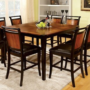 Gilkes Transitional Counter Height Solid Wood Dining Table by Red Barrel Studio