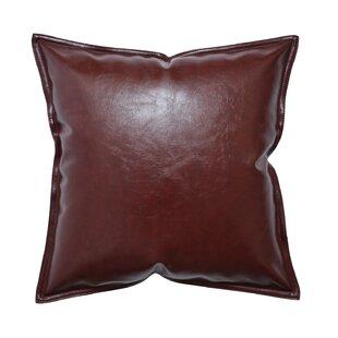 Throw Pillow Set 6 Modern Minimal Accent Pillow Covers 18x18 Vegan leather throw pillow