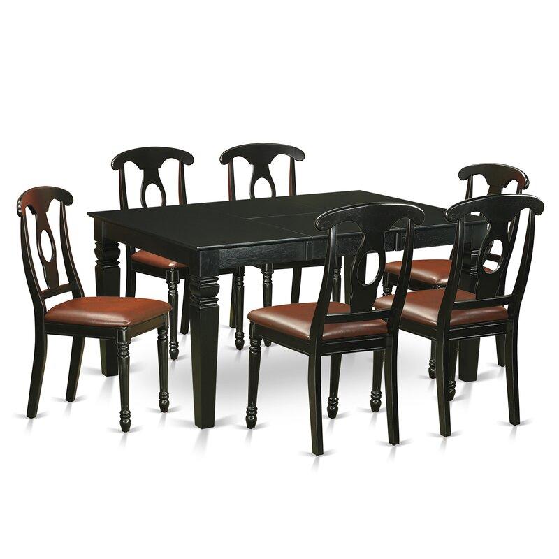 Pennington 7 Piece Solid Wood Dining Set