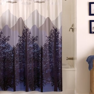 Brissac Misty Mountain PEVA Single Shower Curtain by Ivy Bronx Purchase