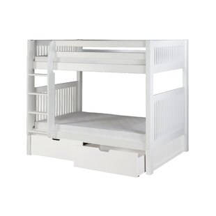 Oakwood Twin Over Twin Bunk Bed With Drawers by Harriet Bee Fresh