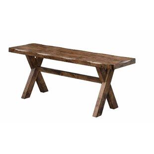 Millwood Pines Vansant Trestle Base Wood Bench