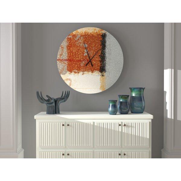 Ebern Designs Simple Blue Ribbon Abstract Wall Clock Wayfair