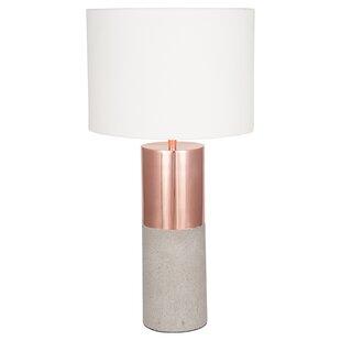 Rose gold table lamp wayfair abdullah 54cm table lamp aloadofball Images