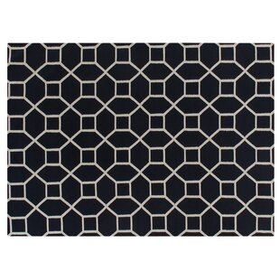Hand-Woven Wool Navy/White Area Rug By Exquisite Rugs