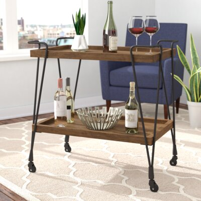 Desantiago Bar Cart by Mercury Row Purchase