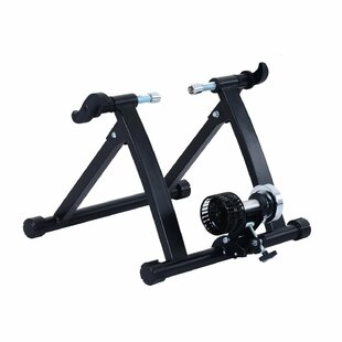 Foldable Indoor Bicycle Bike Turbo Trainer In Black By Symple Stuff