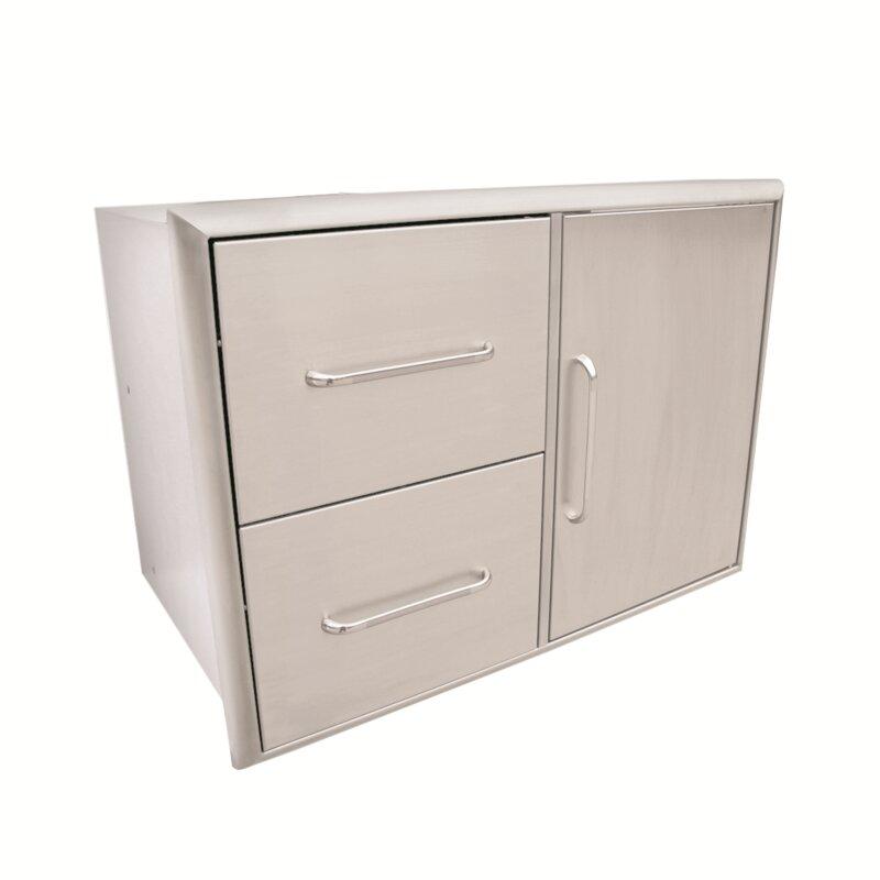 Sabergrills 31 Stainless Steel Drop In Door Drawer Combo Wayfair Ca