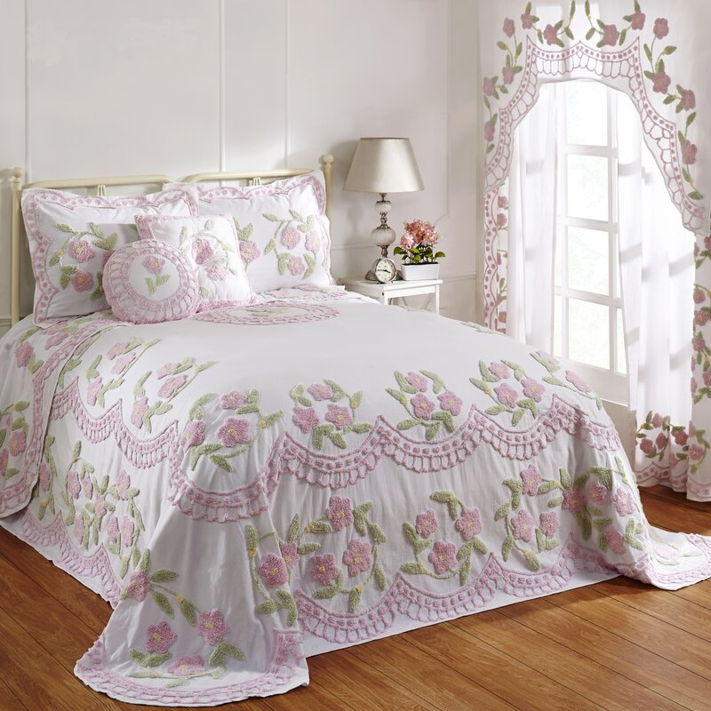 august grove alburtis handcrafted chenille bedspread. Black Bedroom Furniture Sets. Home Design Ideas