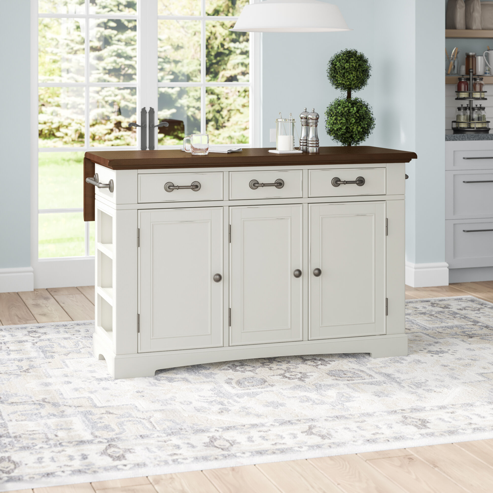 Darby Home Co Maile Large Kitchen Island Reviews Wayfair