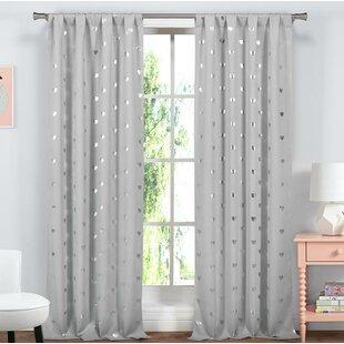 Bonnie Room Darkening Thermal Rod Pocket Curtain Panels (Set of 2)