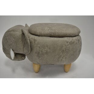 Overlock Elephant Storage Ottoman by Bloomsbury Market