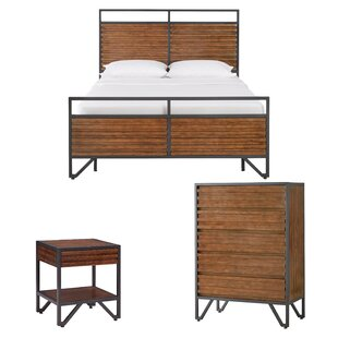 Bourdon Stacked Wood Sleigh Configurable Bedroom Set by Mercury Row