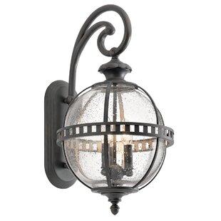 Gracie Oaks Churchton 3-Light Outdoor Wall Lantern